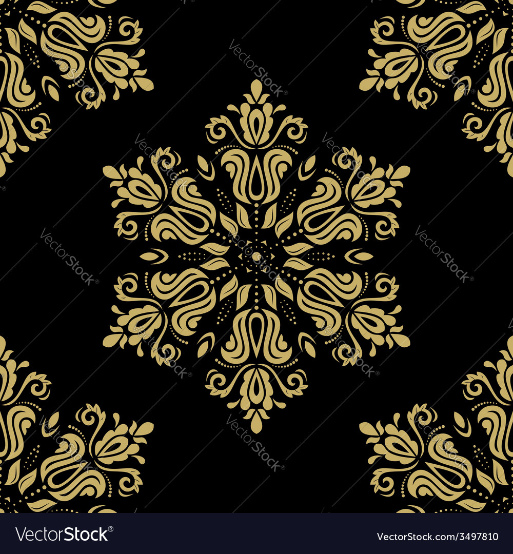 Floral seamless pattern orient abstract background vector   Price: 1 Credit (USD $1)