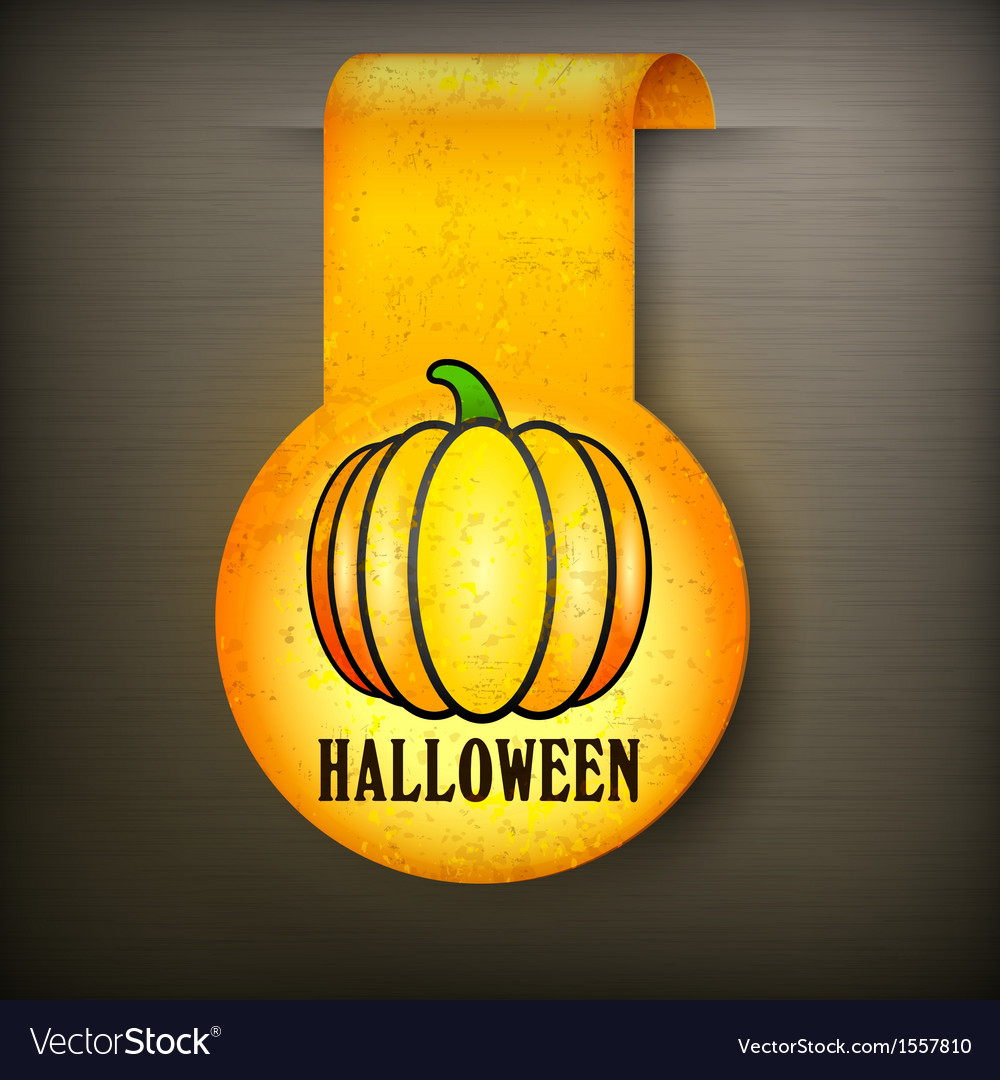 Halloween sticker on black vector   Price: 1 Credit (USD $1)