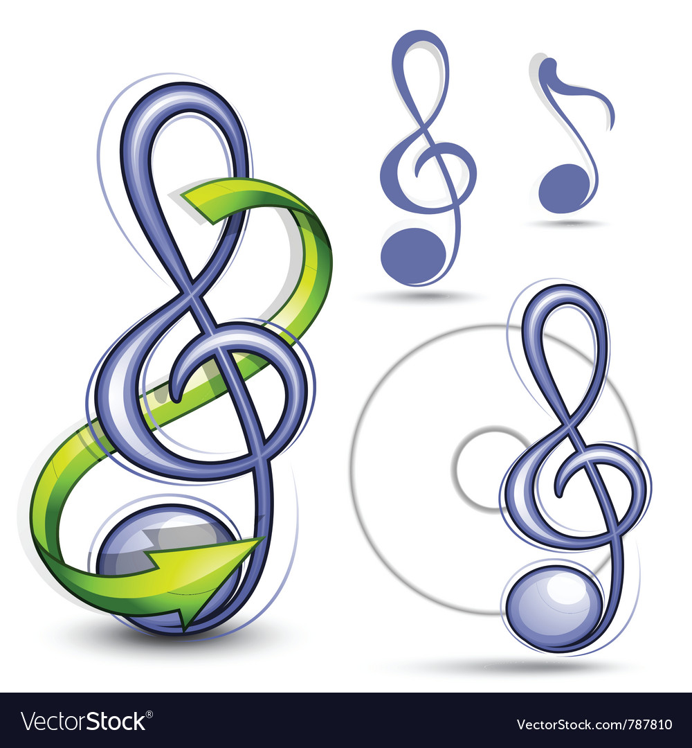 Musical notes vector | Price: 3 Credit (USD $3)