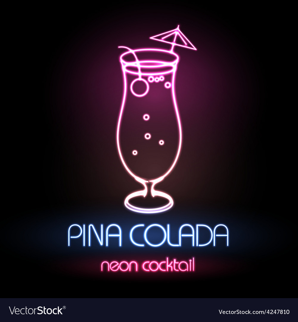 Neon sign cocktail vector | Price: 1 Credit (USD $1)