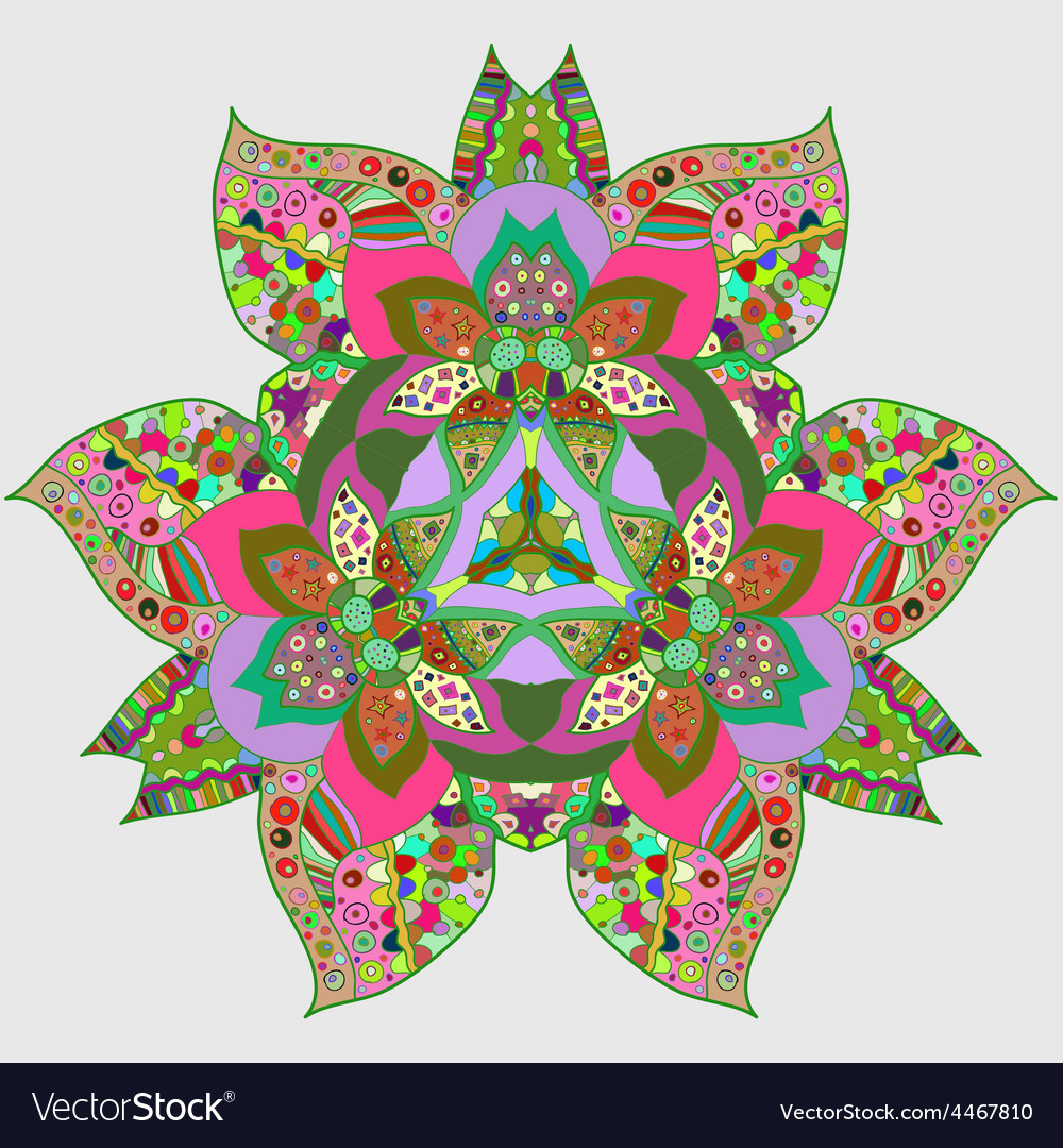 Oriental traditional ornament motif vector | Price: 1 Credit (USD $1)