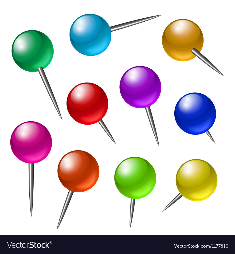 Push pins vector | Price: 1 Credit (USD $1)