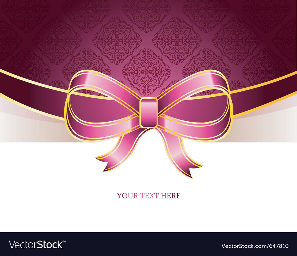 Ribbon vintage bow vector | Price: 1 Credit (USD $1)
