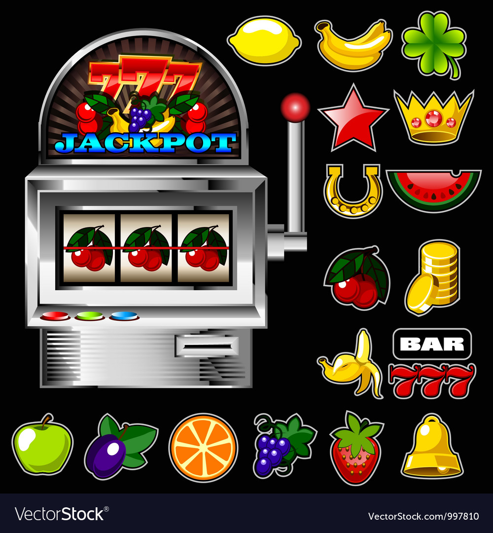 Slot machine vector | Price: 3 Credit (USD $3)