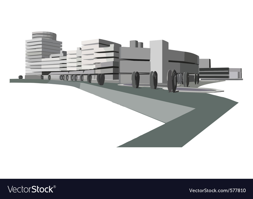 Urban waterfront vector | Price: 1 Credit (USD $1)