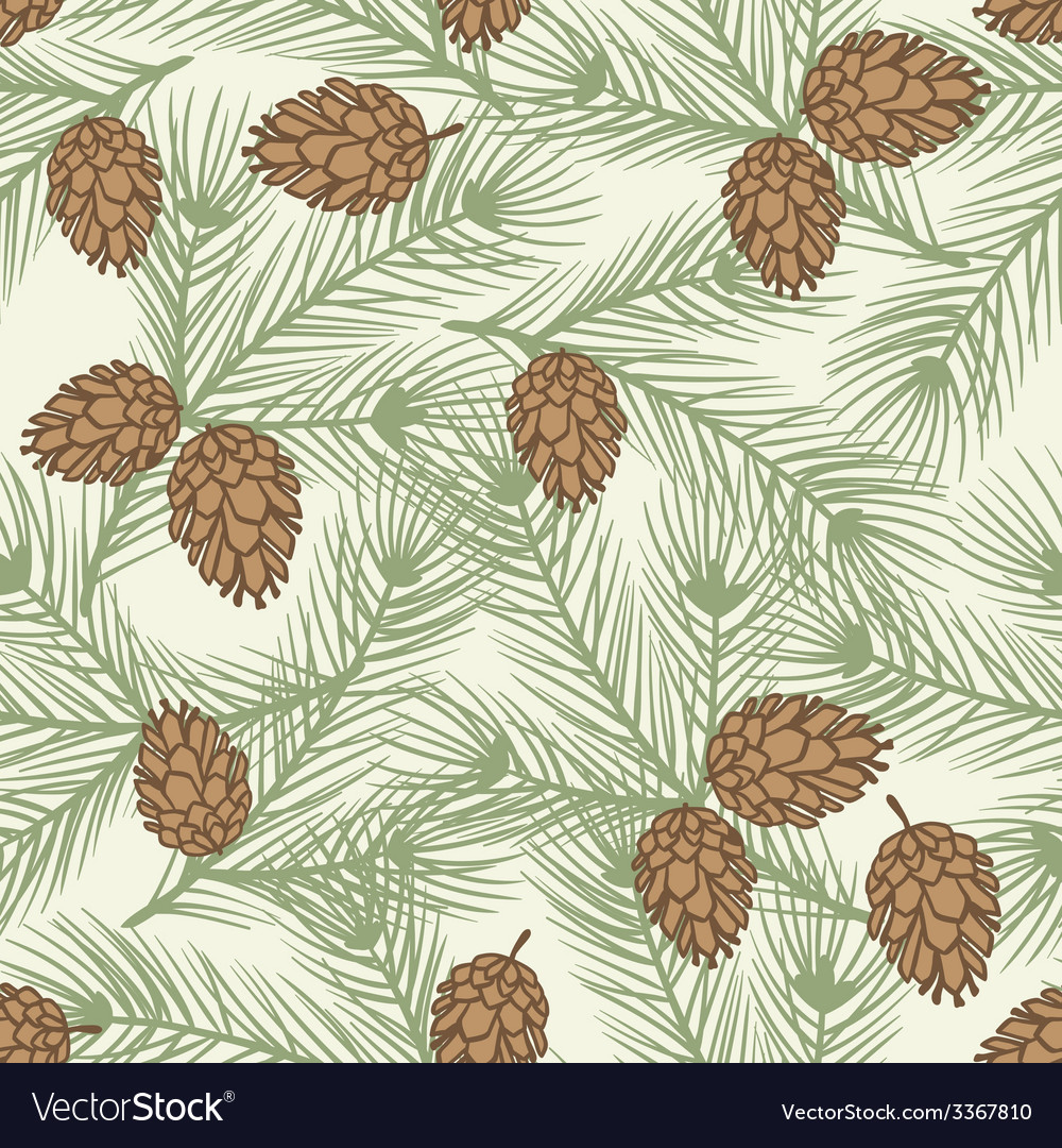 Winter seamless pattern with stylized pine vector   Price: 1 Credit (USD $1)