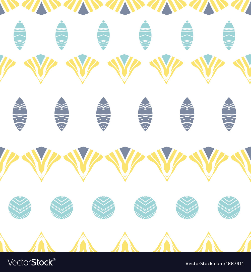 Abstract tribal shapes stripes seamless pattern vector | Price: 1 Credit (USD $1)