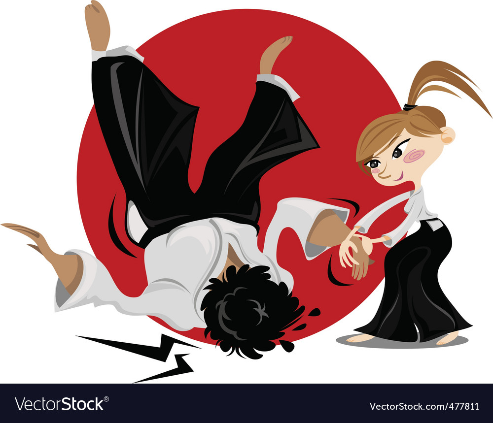 Aikido female vector | Price: 3 Credit (USD $3)