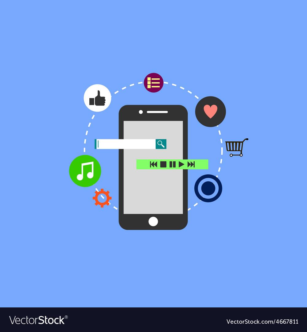 Application development vector | Price: 1 Credit (USD $1)