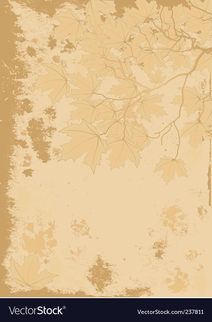 Autumn leaves antique background vector | Price: 1 Credit (USD $1)
