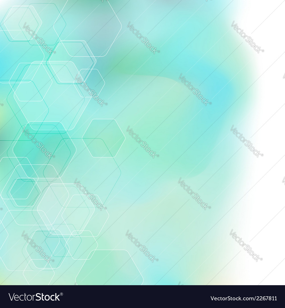 Bokeh abstract hexagon background vector | Price: 1 Credit (USD $1)