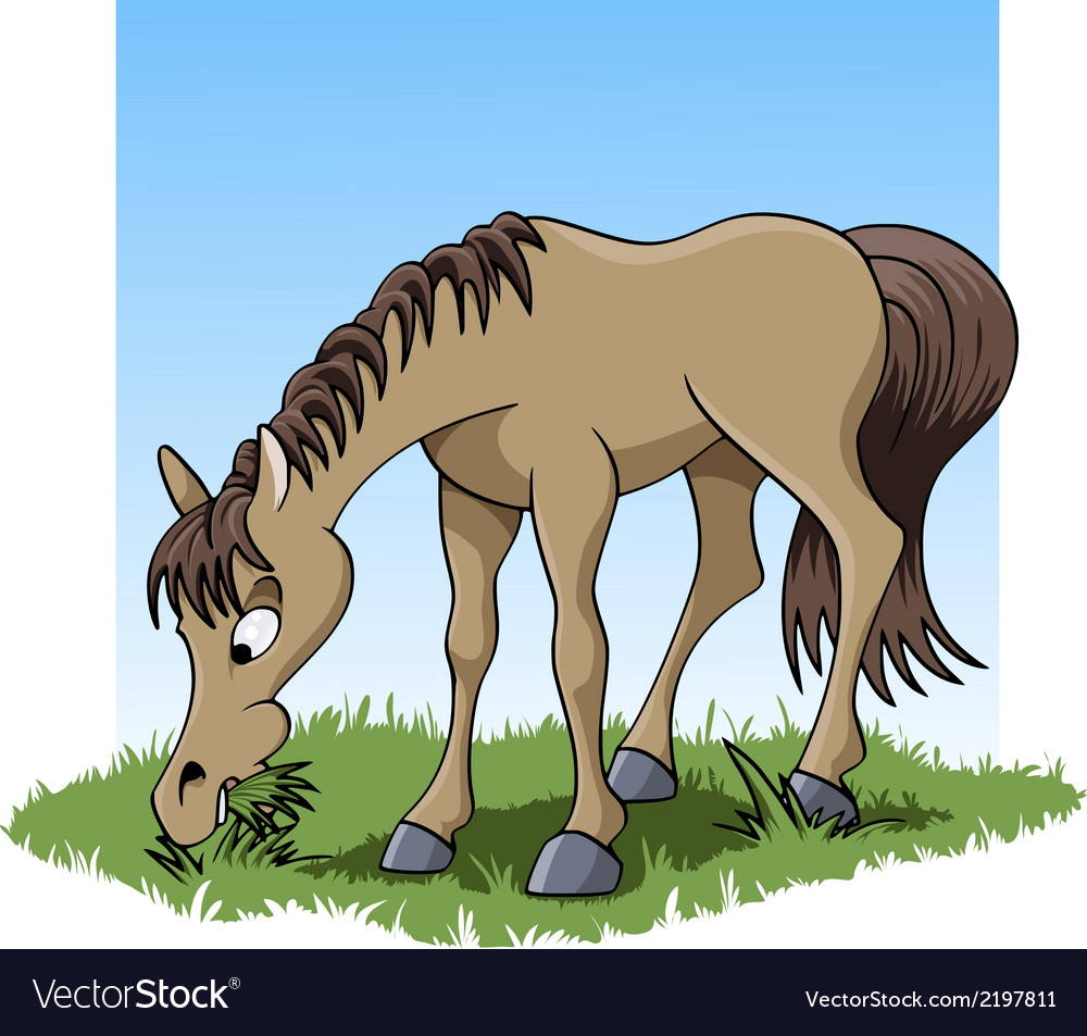 Eating horse vector | Price: 1 Credit (USD $1)