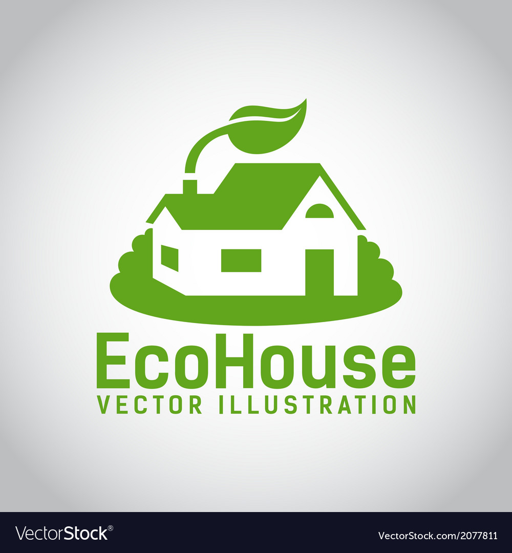 Green eco house icon vector | Price: 1 Credit (USD $1)