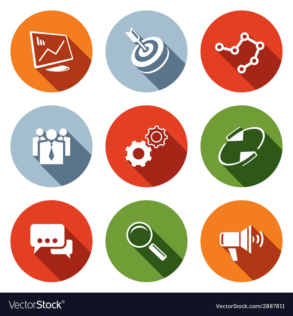 Marketing icon collection vector | Price: 1 Credit (USD $1)
