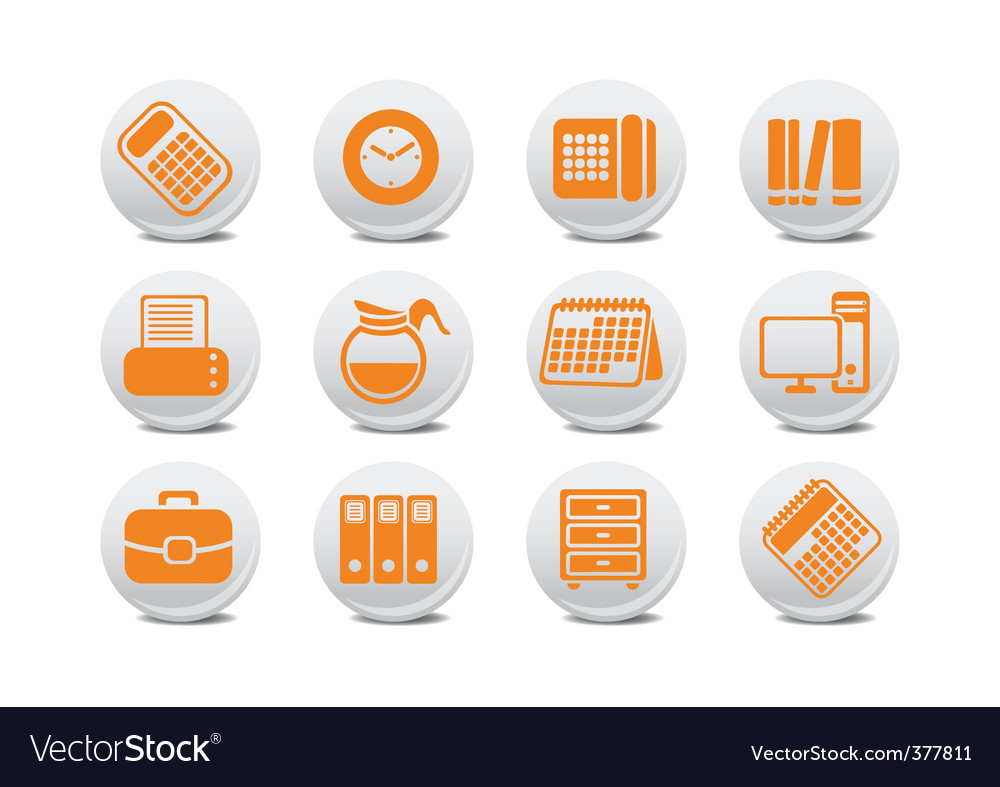 Office equipment buttons vector | Price: 1 Credit (USD $1)