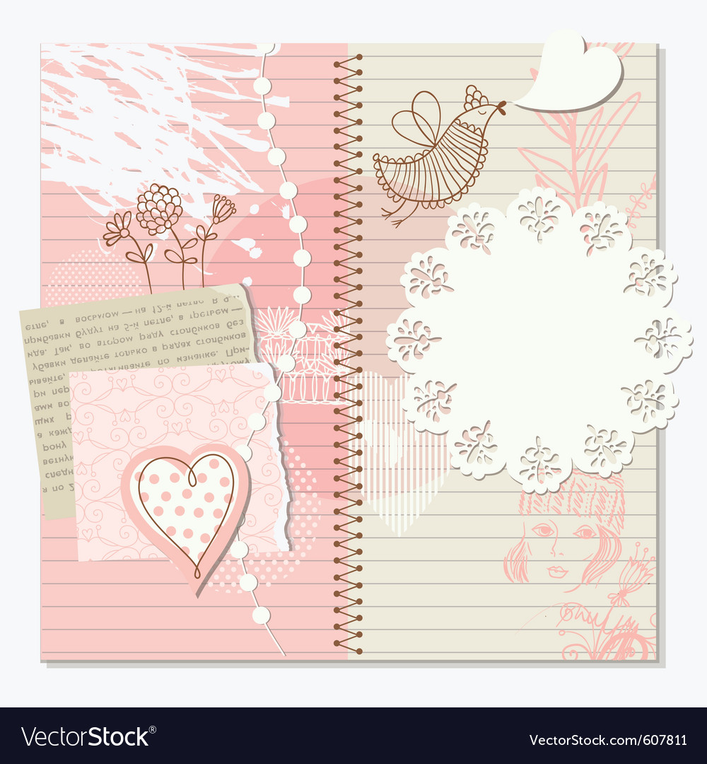 Scrap-booking elements decor vector | Price: 1 Credit (USD $1)