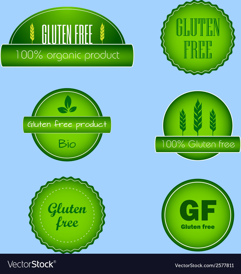 Set of gluten free food labels vector | Price: 1 Credit (USD $1)