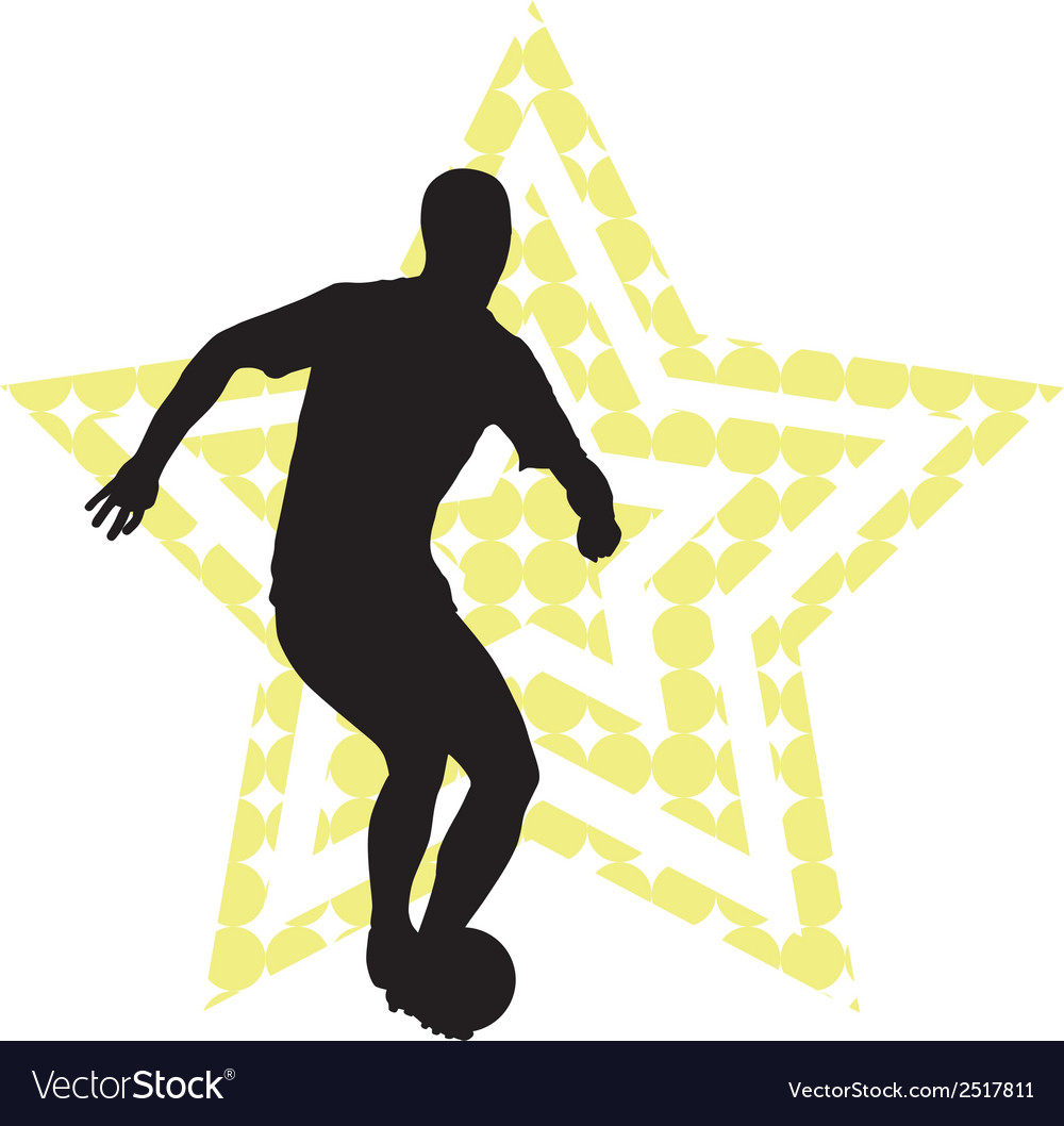 Soccer star concept vector | Price: 1 Credit (USD $1)