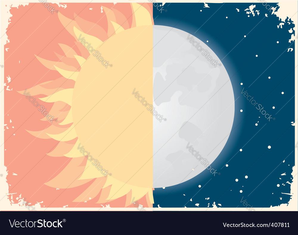 Sun moon vector | Price: 1 Credit (USD $1)