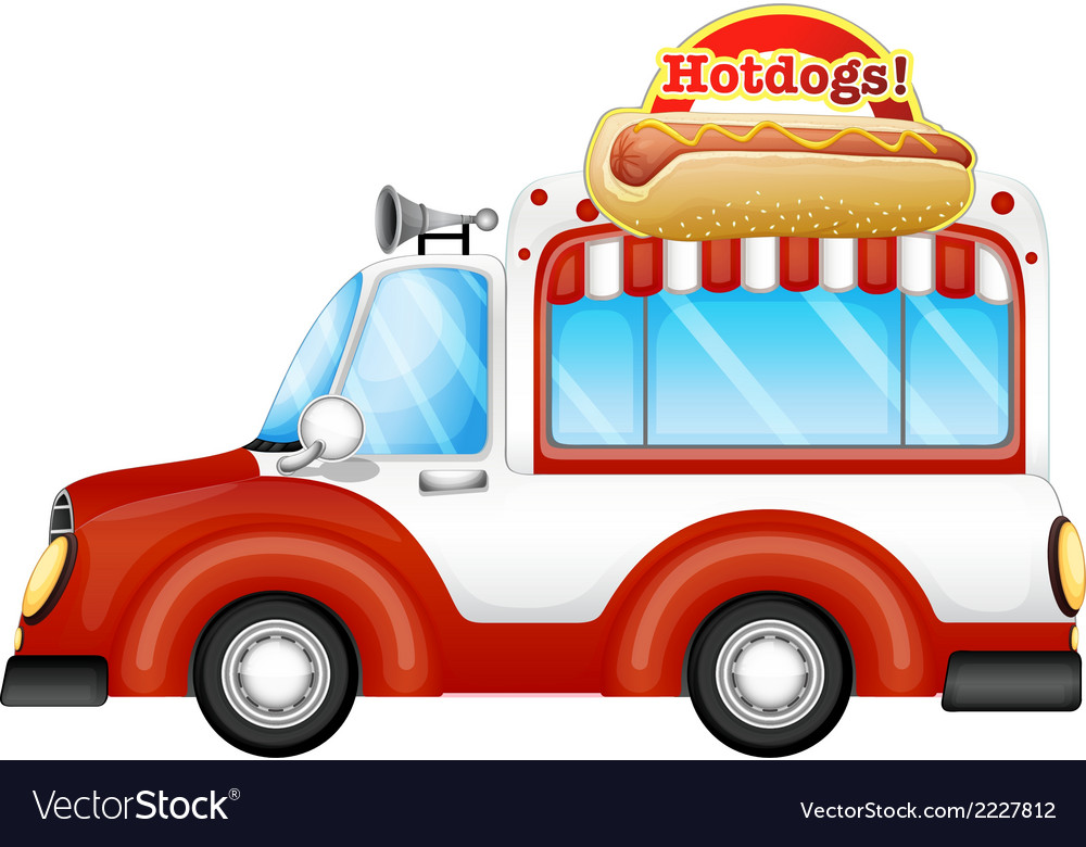 A vehicle selling hotdogs vector | Price: 1 Credit (USD $1)
