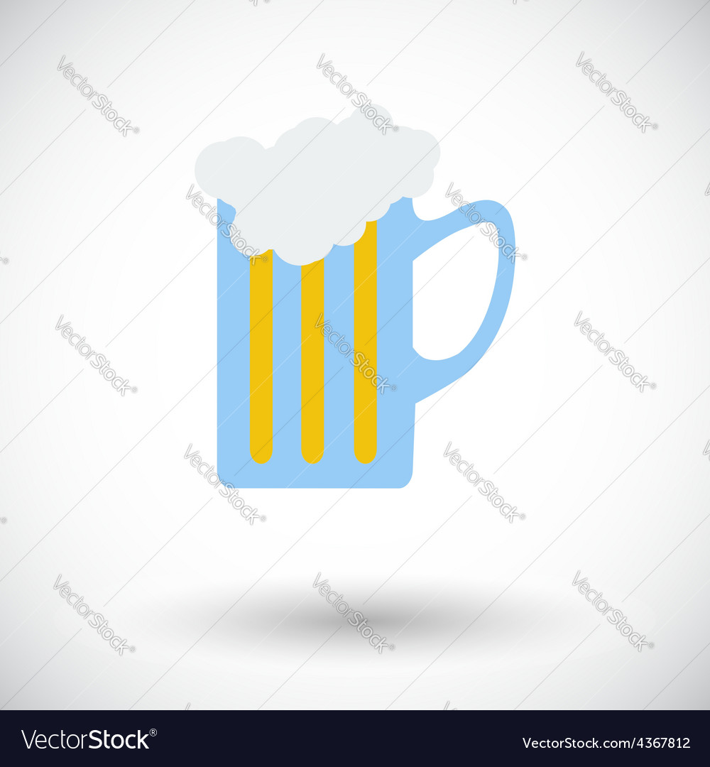 Beer flat icon vector | Price: 1 Credit (USD $1)