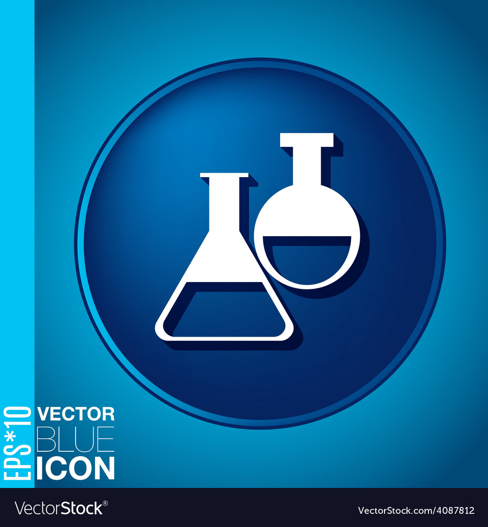 Bulb symbol icon of medicine or chemistry the vector | Price: 1 Credit (USD $1)