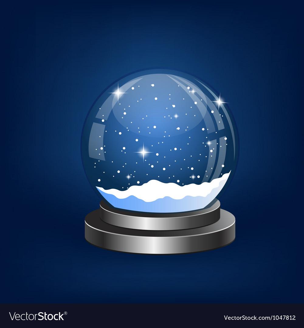 Christmas snow globe vector | Price: 1 Credit (USD $1)