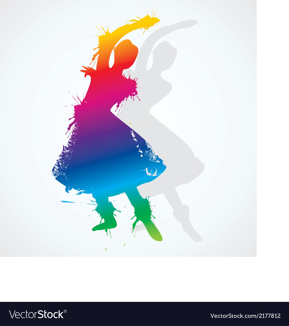 Colorful indian classical dancer vector | Price: 1 Credit (USD $1)