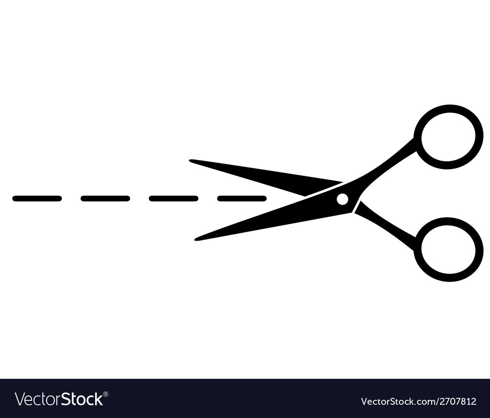 Cut line with scissors vector | Price: 1 Credit (USD $1)