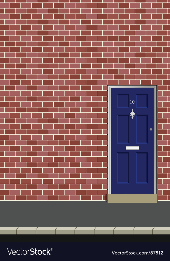 Door in brick wall vector | Price: 1 Credit (USD $1)