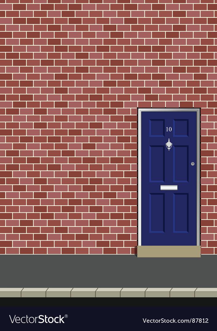 Door in brick wall vector | Price: 1 Credit (USD $1)