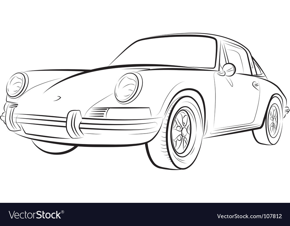 Drawing of the expensive car vector | Price: 1 Credit (USD $1)