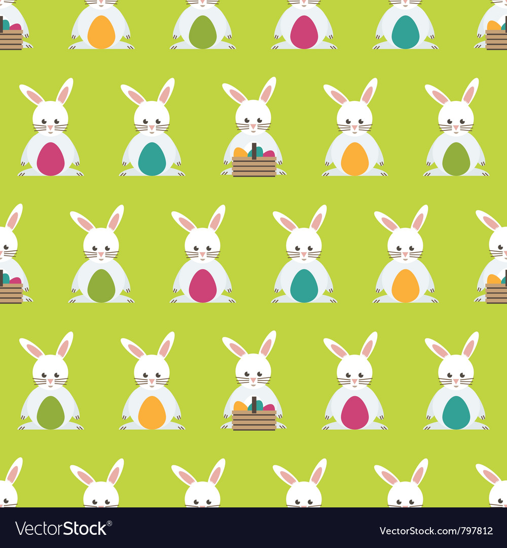 Easter bunny pattern vector | Price: 1 Credit (USD $1)