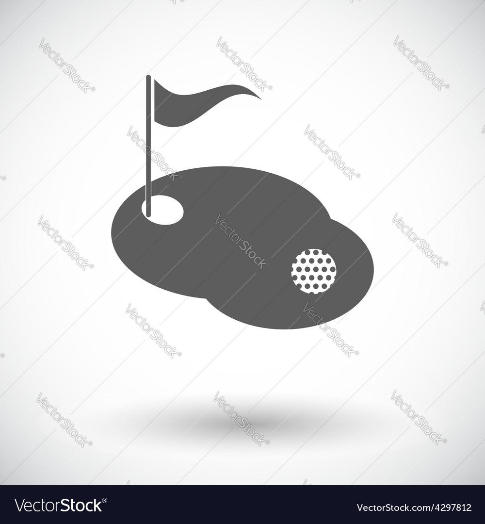 Golf single icon vector | Price: 1 Credit (USD $1)