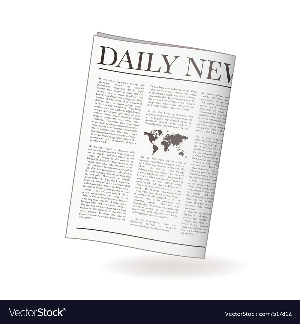 Newspaper daily vector | Price: 1 Credit (USD $1)