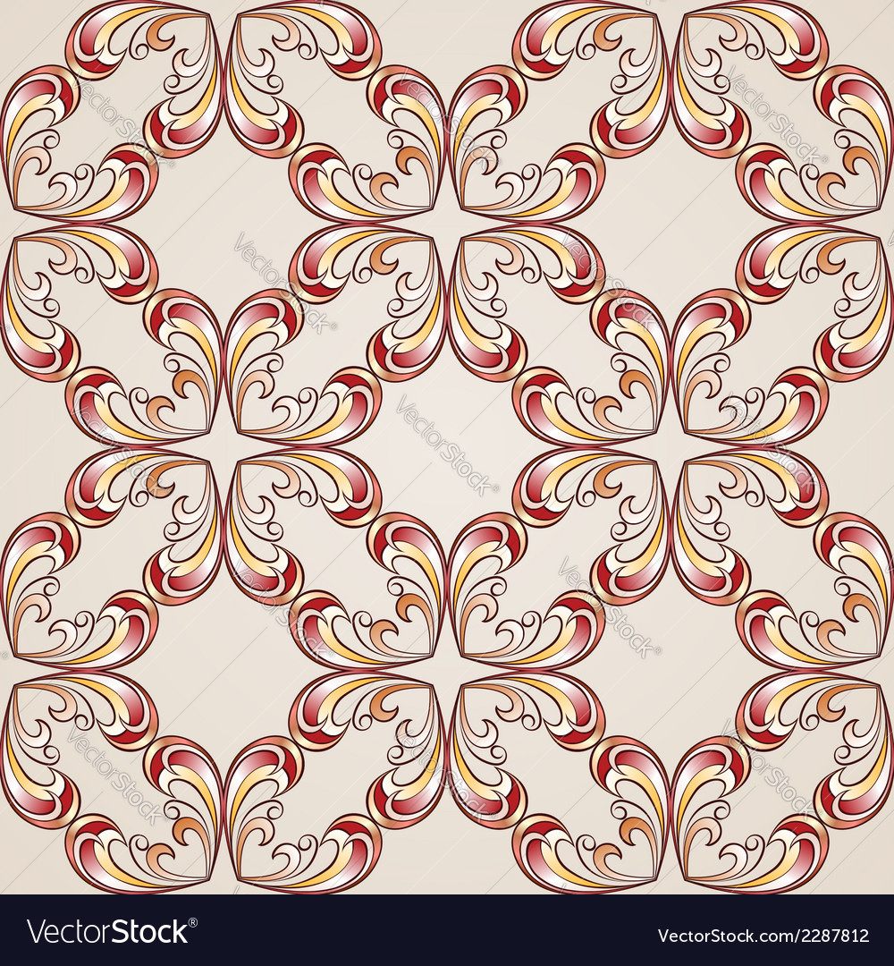 Ornate floral pattern vector | Price: 1 Credit (USD $1)
