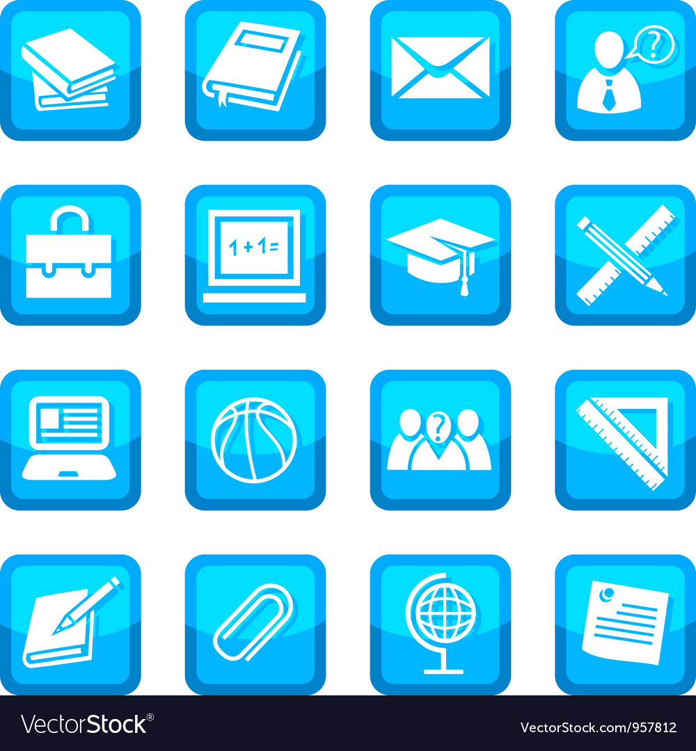 School and education icons vector   Price: 1 Credit (USD $1)