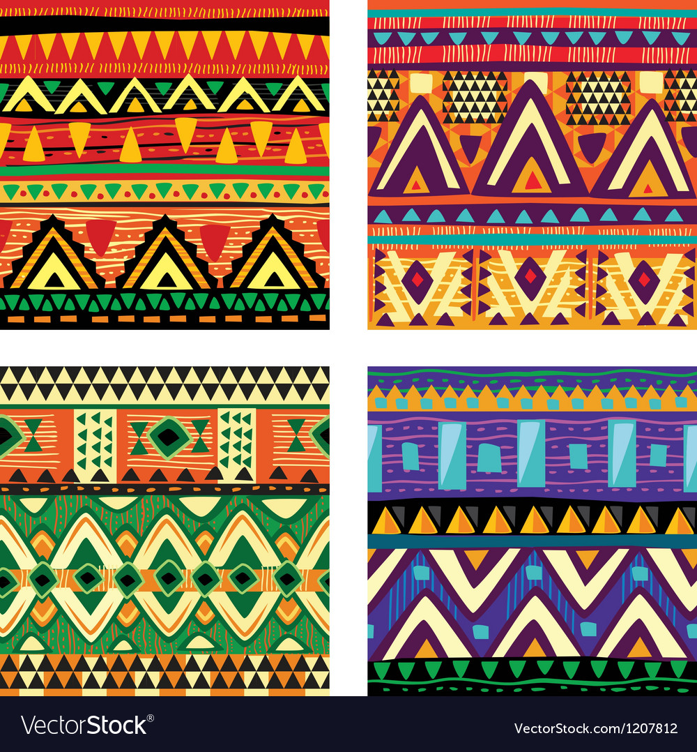 Seamless tribal texture vector | Price: 3 Credit (USD $3)