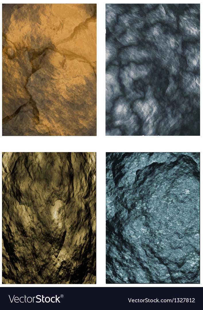 Set of stone textures vector   Price: 1 Credit (USD $1)