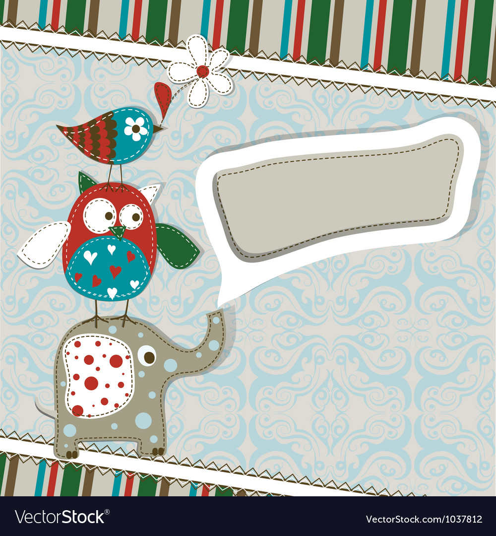 Template greeting card scrap vector | Price: 1 Credit (USD $1)