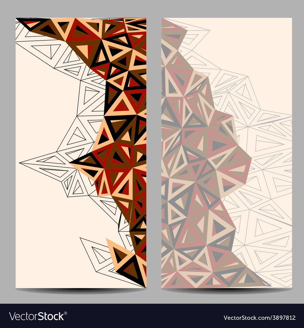 Template with triangular form vector | Price: 1 Credit (USD $1)