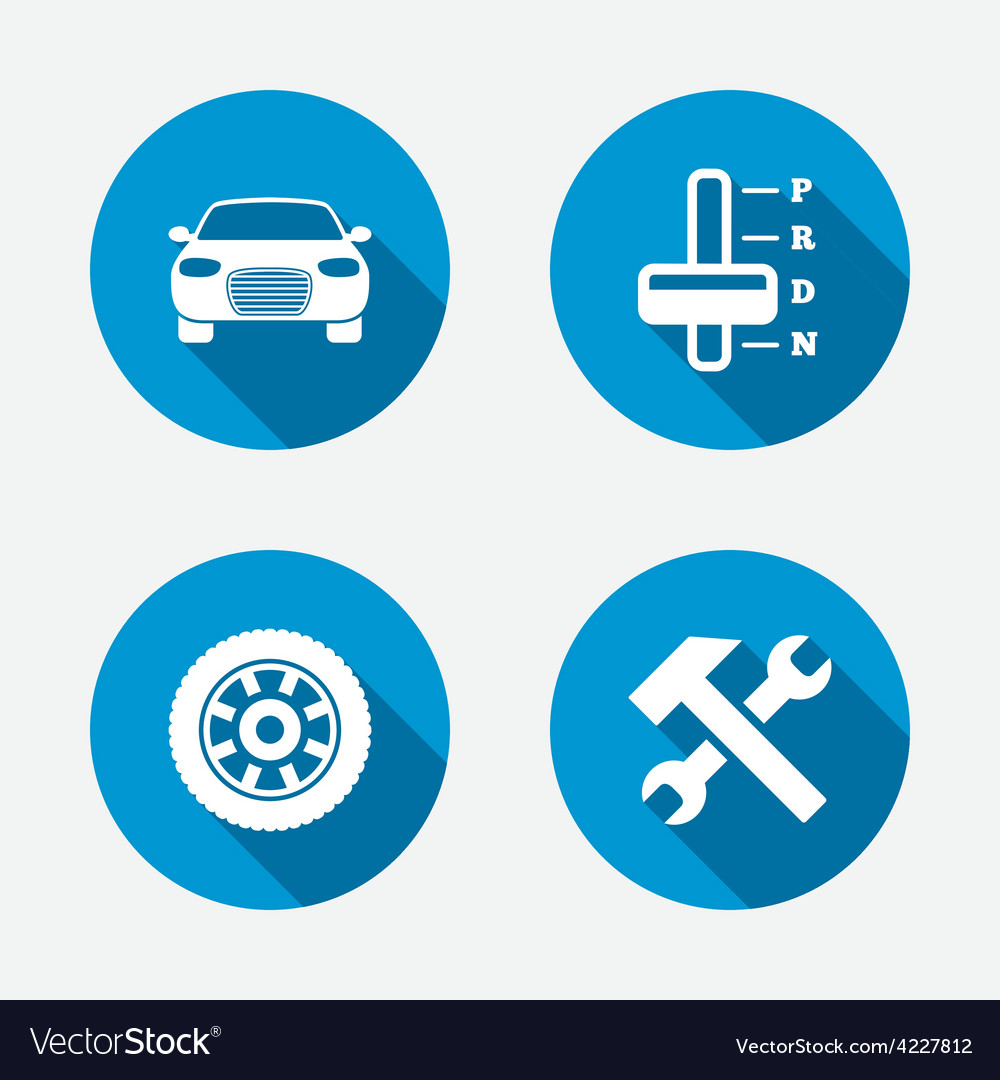Transport icons tachometer and repair tool vector | Price: 1 Credit (USD $1)