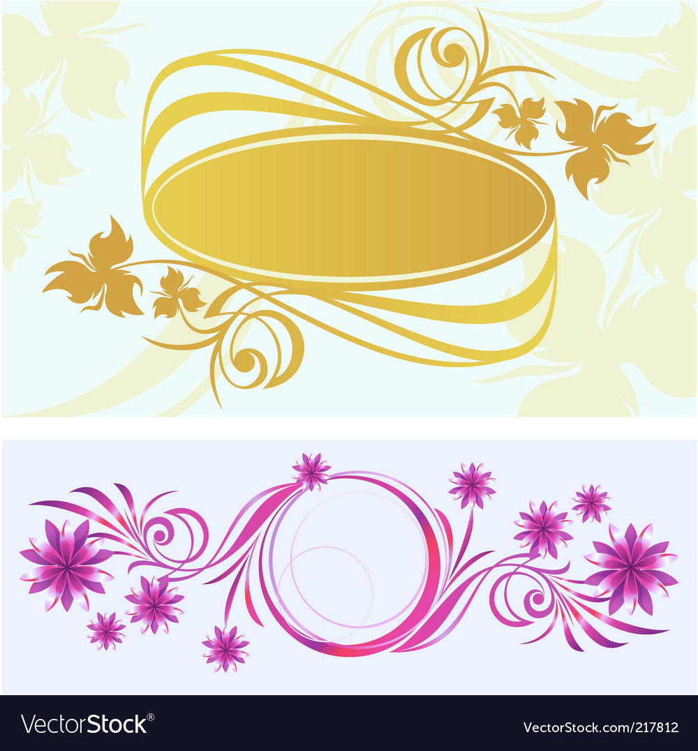 Two vignette vector | Price: 1 Credit (USD $1)
