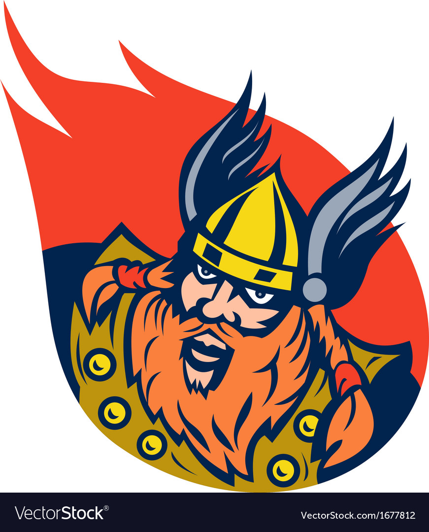 Viking warrior or norse god vector | Price: 1 Credit (USD $1)