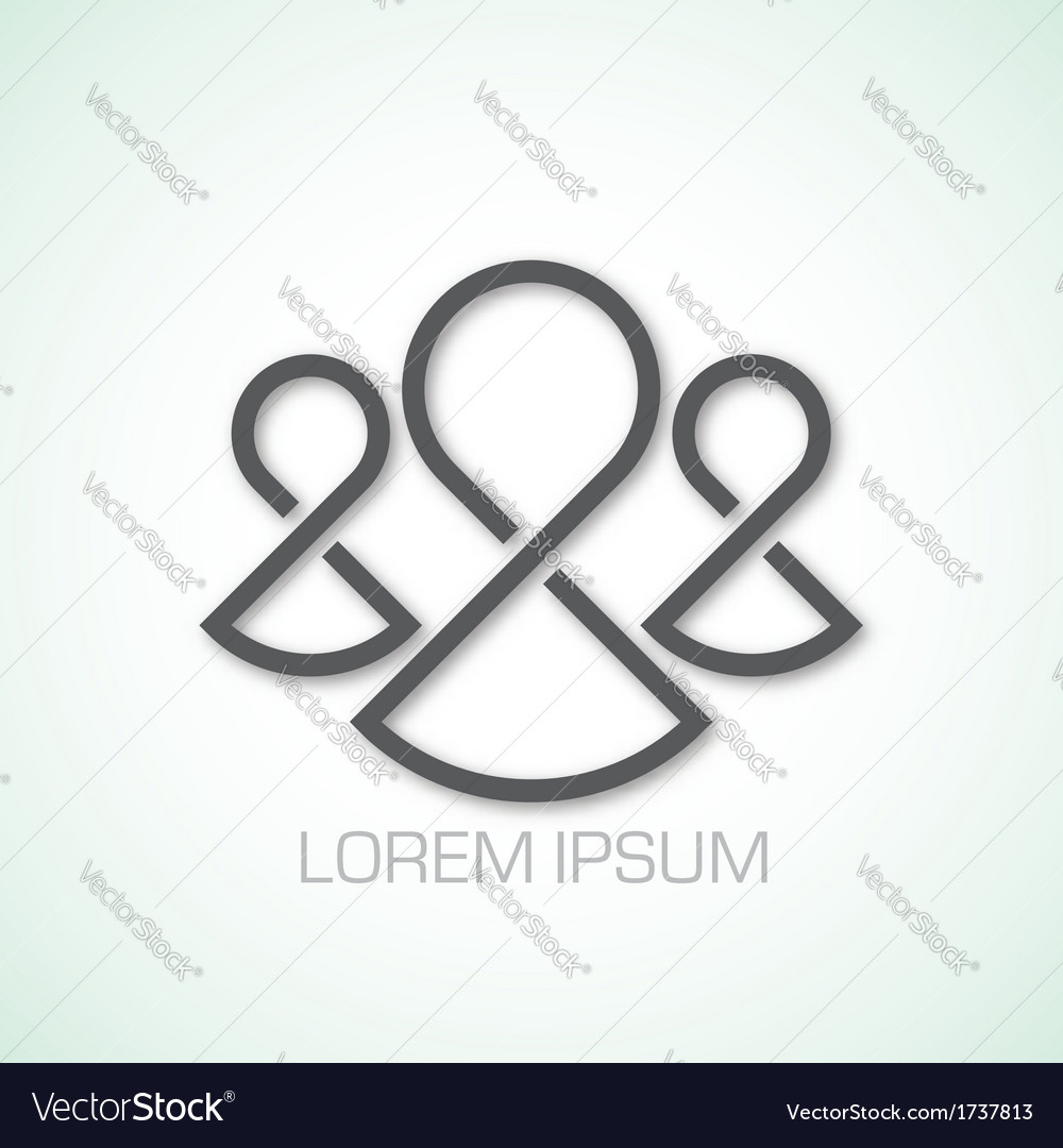 Abstract people symbol vector | Price: 1 Credit (USD $1)