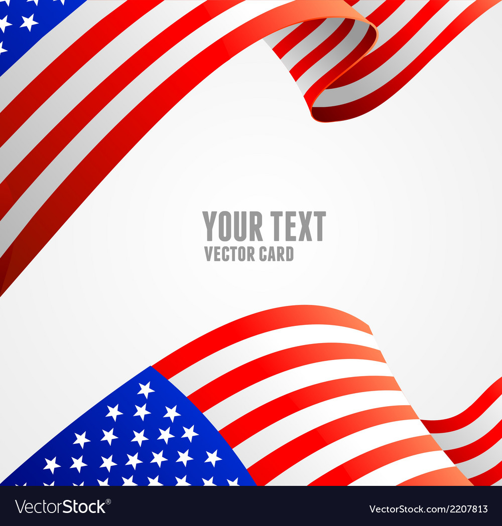 American flag border vector | Price: 1 Credit (USD $1)