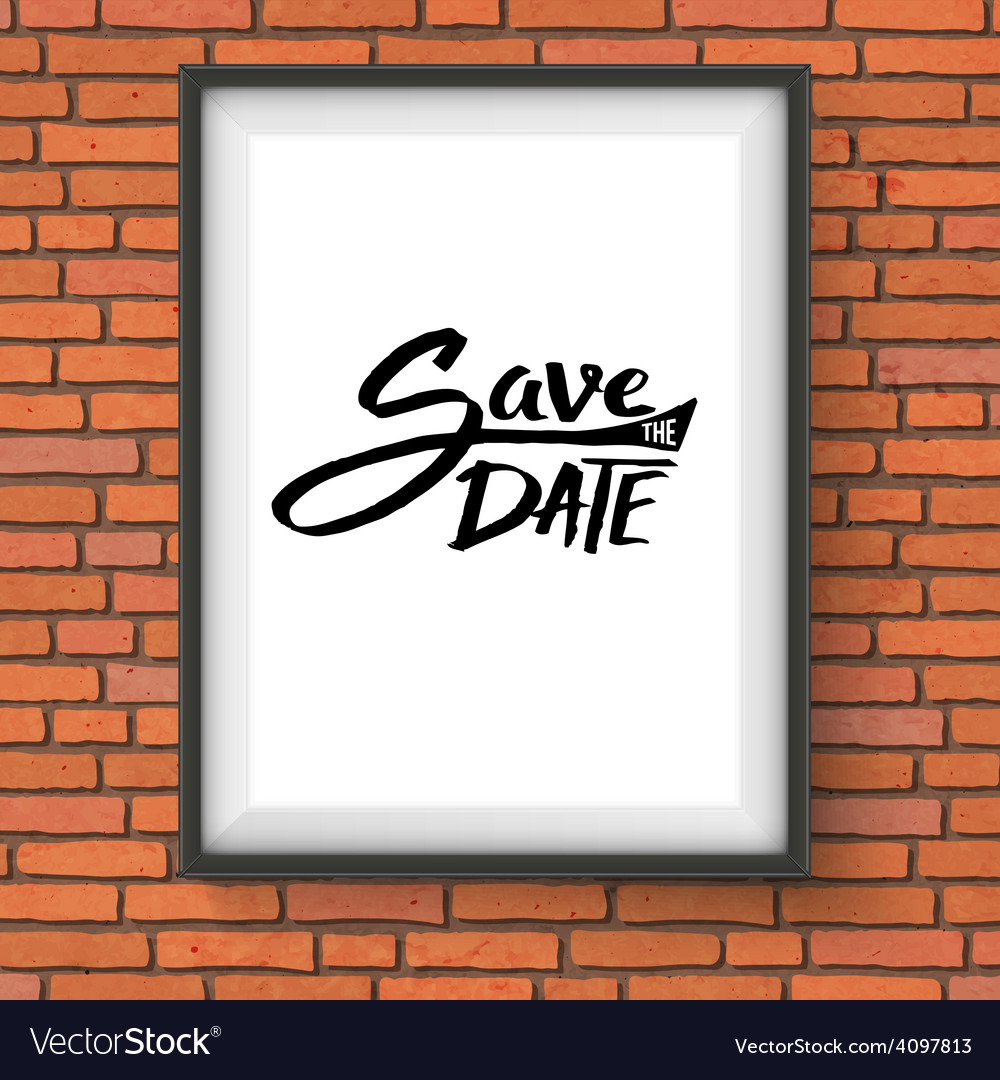 Black text design for save the date concept vector | Price: 1 Credit (USD $1)