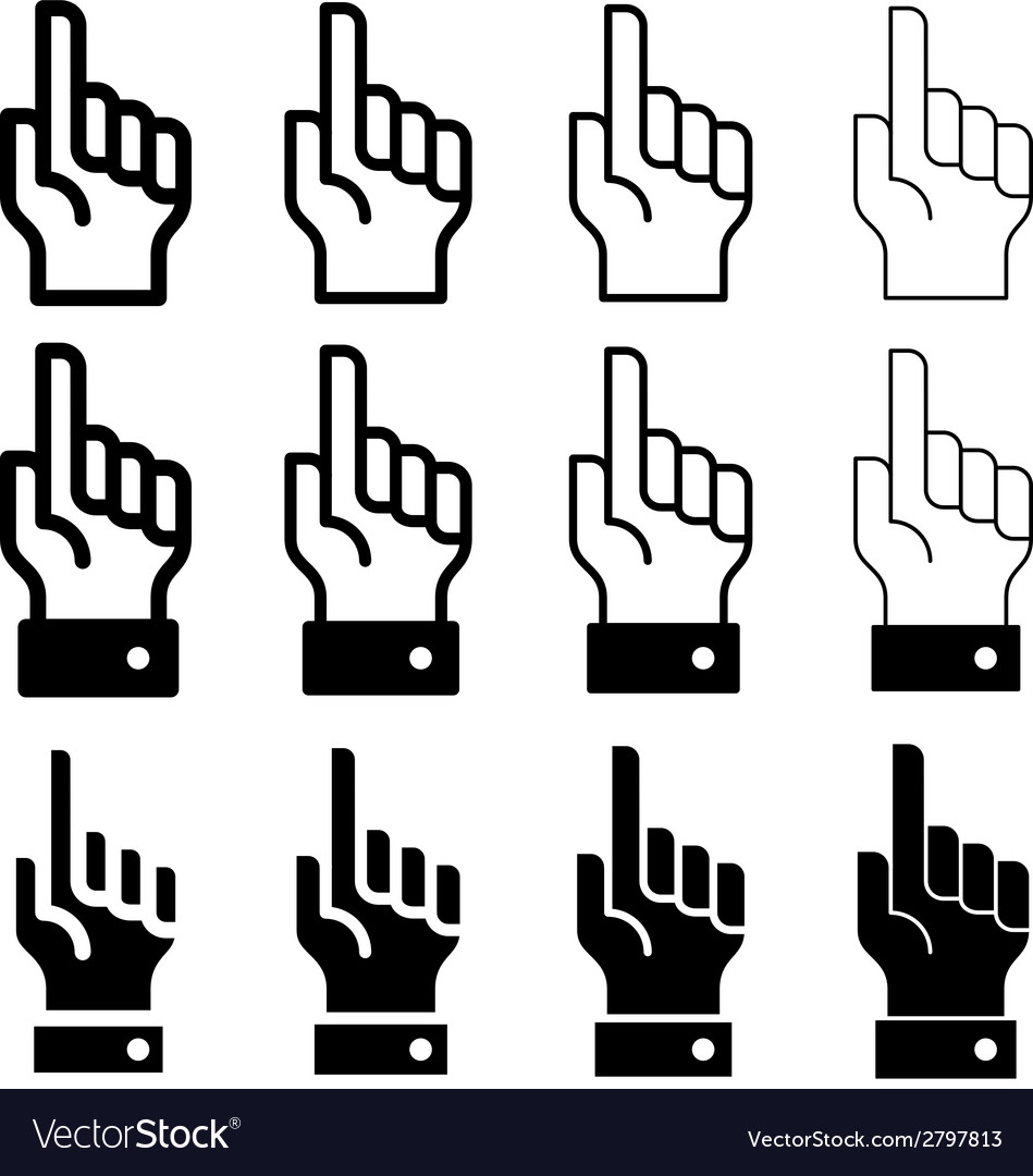 Hand with warning forefinger - easy change vector | Price: 1 Credit (USD $1)