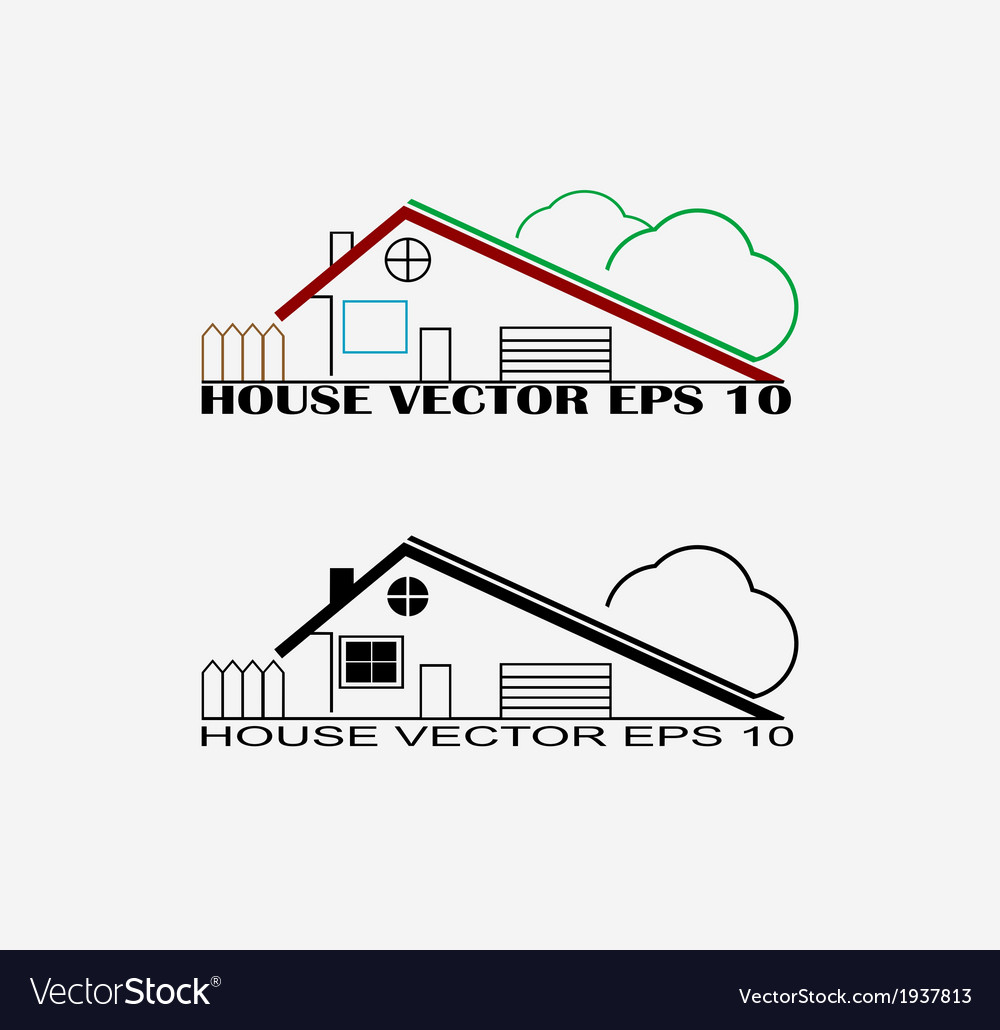 House symbols vector | Price: 1 Credit (USD $1)