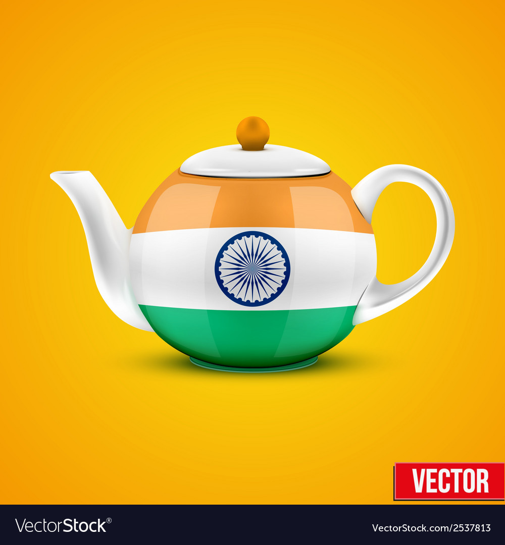 Indian ceramic teapot vector | Price: 1 Credit (USD $1)